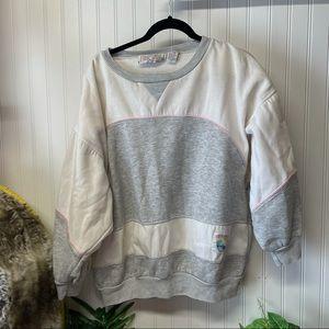 Vintage Gitano Plus gray & white sweater 24W
